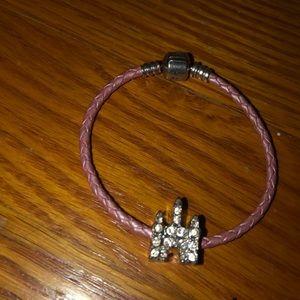 Pandora bracelet with diamond Disney bead